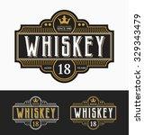 vintage frame label design.... | Shutterstock .eps vector #329343479
