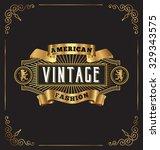 premium golden vintage frame... | Shutterstock .eps vector #329343575
