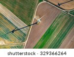 aerial view on the windmill and ... | Shutterstock . vector #329366264