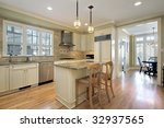 kitchen in luxury home | Shutterstock . vector #32937565