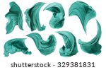 fabric cloth flowing on wind ... | Shutterstock . vector #329381831