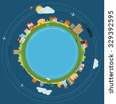 flat design illustration of... | Shutterstock .eps vector #329392595