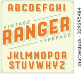 vintage retro font. vector... | Shutterstock .eps vector #329395484
