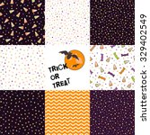 set of halloween backgrounds.... | Shutterstock . vector #329402549