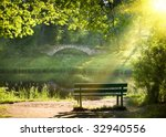 Bench On The Bank Of The River...