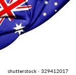Australia   Flag Of Silk With...