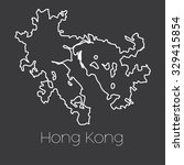 a map of the country of hong... | Shutterstock . vector #329415854
