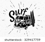 retro grunge black and white... | Shutterstock .eps vector #329417759