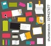 set of color flat reminder... | Shutterstock .eps vector #329427677