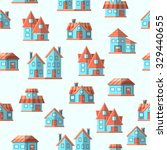 vector house seamless pattern