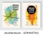 business brochure design... | Shutterstock .eps vector #329445761