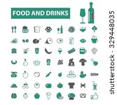 food  drinks  restaurant  cafe... | Shutterstock .eps vector #329448035