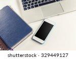 open laptop  business devices | Shutterstock . vector #329449127
