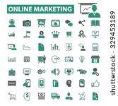 online marketing  digital... | Shutterstock .eps vector #329453189