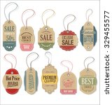 retro tags collection | Shutterstock .eps vector #329455577