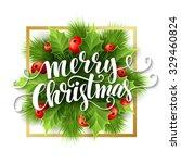 merry christmas lettering card...   Shutterstock .eps vector #329460824