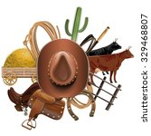 vector cowboy ranch concept   Shutterstock .eps vector #329468807
