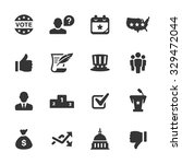 politics icons  mono series | Shutterstock .eps vector #329472044