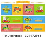 buying selling rental car. buy... | Shutterstock .eps vector #329472965