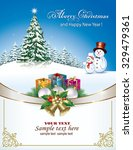 christmas card with christmas... | Shutterstock .eps vector #329479361