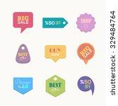 flat style website shop  sales...   Shutterstock .eps vector #329484764