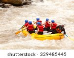 group of mixed tourist men and... | Shutterstock . vector #329485445