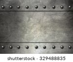 metal texture with rivets | Shutterstock . vector #329488835