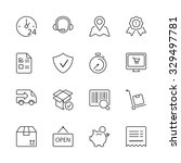 shopping icons set  thin line ...   Shutterstock .eps vector #329497781