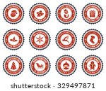 christmas badge and design... | Shutterstock .eps vector #329497871