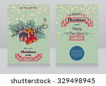 greeting cards with christmas... | Shutterstock .eps vector #329498945