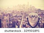 retro vintage toned tourist... | Shutterstock . vector #329501891