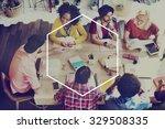 hexagon icon frame symbol copy...   Shutterstock . vector #329508335