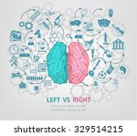 human brain concept with left... | Shutterstock .eps vector #329514215