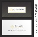 vector abstract business card... | Shutterstock .eps vector #329516909