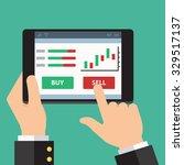 mobile foreign exchange trading.... | Shutterstock .eps vector #329517137