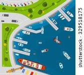 seaside dockyard harbor... | Shutterstock .eps vector #329518175