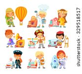 big collection of cartoon... | Shutterstock .eps vector #329518517