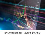 Stock photo candle stick graph chart of stock market investment trading 329519759