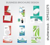 brochure design vector set | Shutterstock .eps vector #329522375