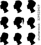 men profile silhouettes  ... | Shutterstock .eps vector #329523419