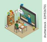 online education concept in 3d... | Shutterstock . vector #329526701