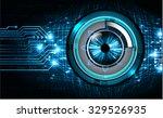 dark blue color light abstract...   Shutterstock .eps vector #329526935