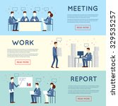business people in an office... | Shutterstock .eps vector #329535257