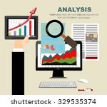 concepts for business planning... | Shutterstock .eps vector #329535374