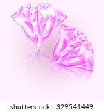 pink diamond  emerald diamond... | Shutterstock .eps vector #329541449