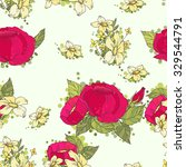 floral seamless pattern... | Shutterstock .eps vector #329544791