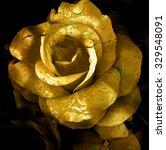 Gold Cracked Flower  Old Rose ...
