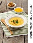 broccoli cheddar soup.... | Shutterstock . vector #329548337