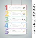 design infographic template 5... | Shutterstock .eps vector #329553929