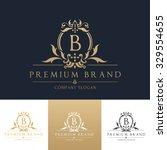 letter b boutique logo template | Shutterstock .eps vector #329554655